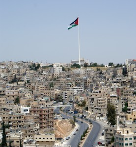 Jordanian Flag Over Amman