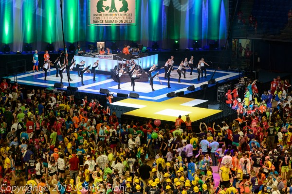 Dancers Entertaining The Dancers at THON 2013