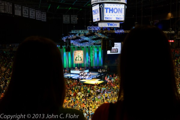 Supporters Look On at THON 2013
