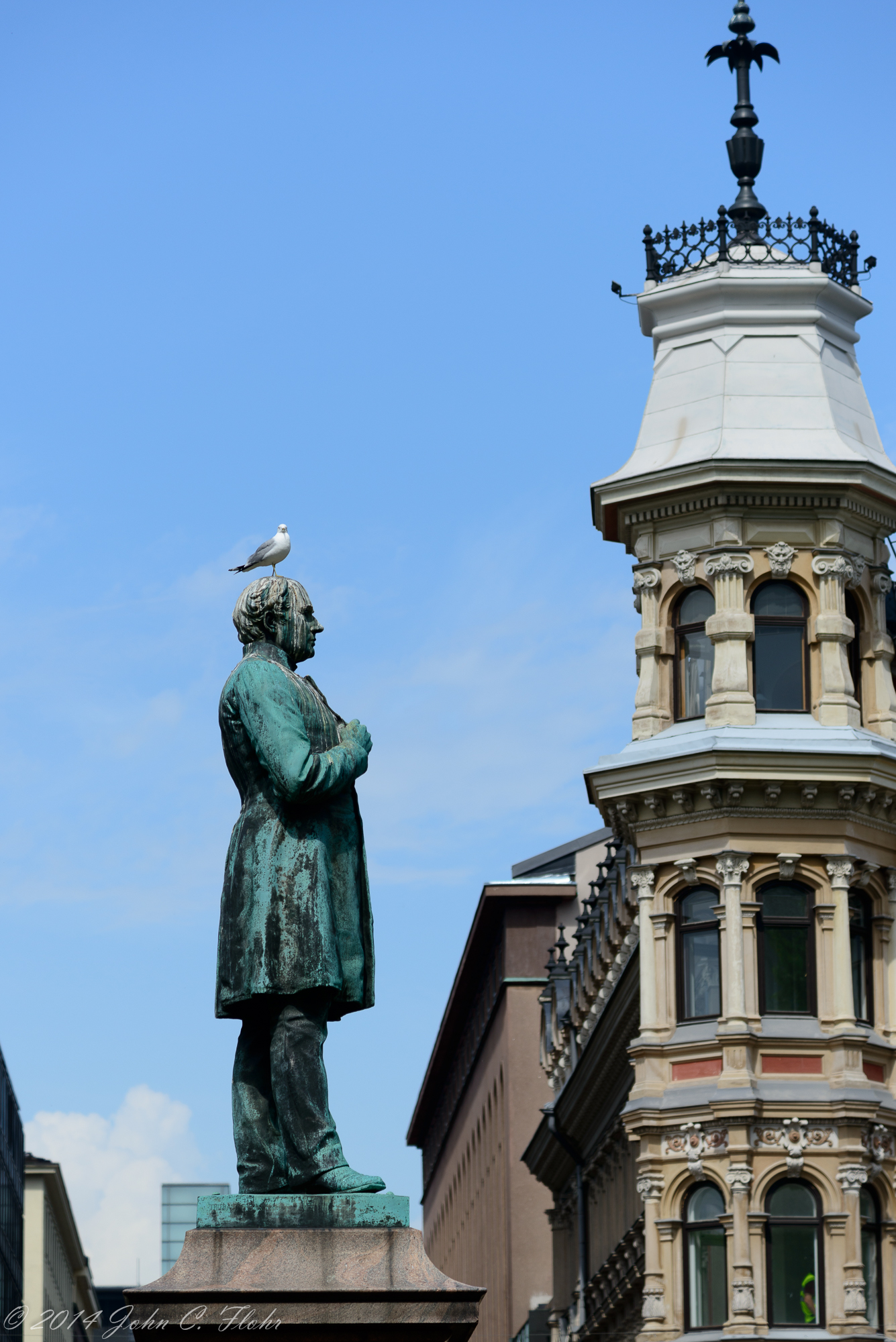 Statue With Seagull