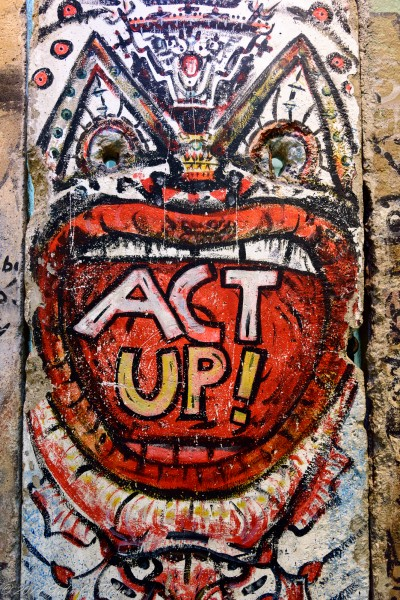 ACT UP! - Detail from the Berlin Wall Newseum Washington, DC