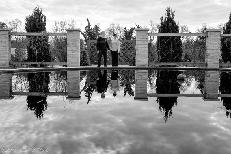 Couple at Arboretum Lily Pond